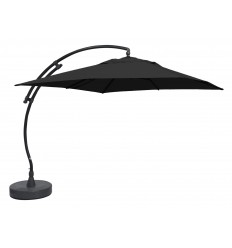 Parasol déporté Sun Garden - Easy Sun carré sans volants - toile Olefin Carbone