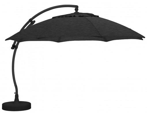 Parasol déporté Sun Garden - Easy Sun rond XL sans volants - toile Olefin Carbone