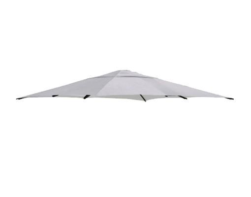 Toile de remplacement Gris clair en Polyester pour parasol Easy Sun 320