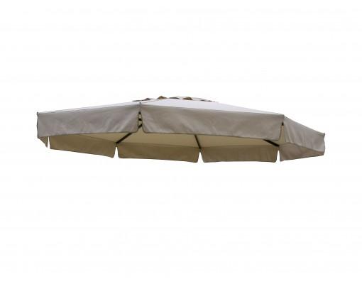 Toile de remplacement Taupe clair en Olefin pour parasol Easy Sun 350
