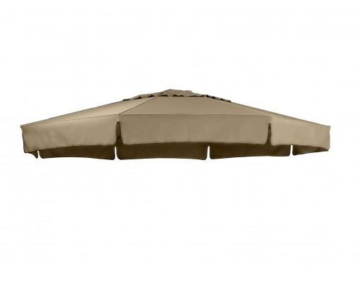 Toile de remplacement Taupe en Olefin pour parasol Easy Sun 350
