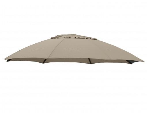 Toile de remplacement Taupe clair en Olefin pour parasol Easy Sun 375