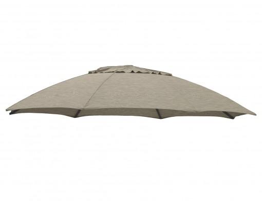 Toile de remplacement Taupe en Olefin pour parasol Easy Sun 375