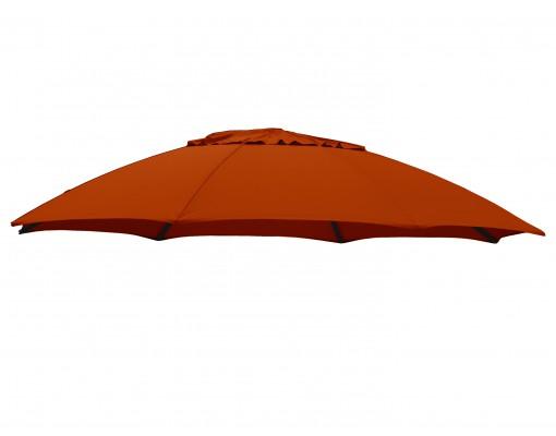 Toile de remplacement Terracotta en Olefin pour parasol Easy Sun 375