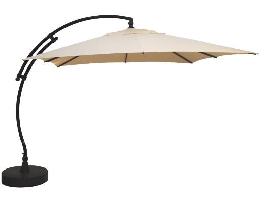 Parasol déporté Sun Garden - Easy Sun carré sans volants - toile Polyester Beige