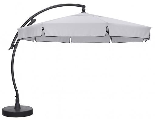 Parasol déporté Sun Garden - Easy Sun classique avec volants - toile Olefin Gris clair