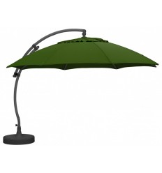Parasol déporté Sun Garden - Easy Sun rond XL sans volants - toile Olefin Taupe clair