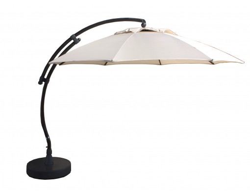 Parasol déporté Sun Garden - Easy Sun rond XL sans volants - toile Olefin Beige