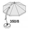 Kit de baleines complet blanc pour parasol Sun Garden Easy Sun