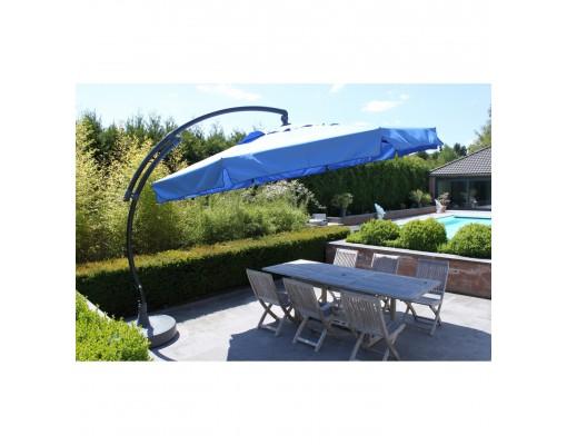 Parasol déporté Sun Garden - Easy Sun classique avec volants - toile Olefin Taupe